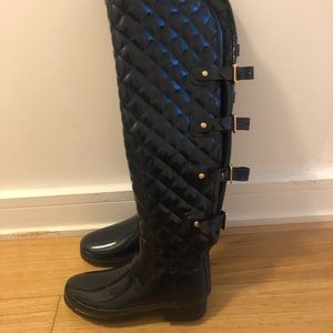Hunter over the knee rain boots